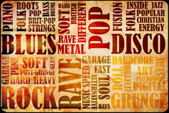 Rock Music poster Stock Images