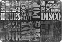 Rock Music poster Stock Photo