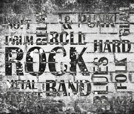 Rock music poster Stock Image
