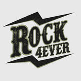 Rock music print Royalty Free Stock Photos