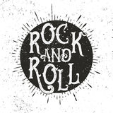 Rock music print stock illustration