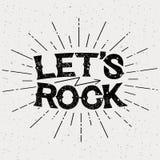 Rock music print Stock Photography