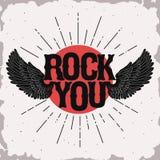 Rock music print Stock Photos