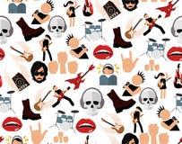 Rock music seamless pattern Royalty Free Stock Image