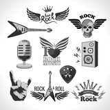 Rock Music Set Royalty Free Stock Photos