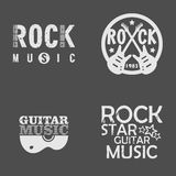 Rock Music Set Royalty Free Stock Photo