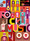 Rock Music - vector illustration Stock Images