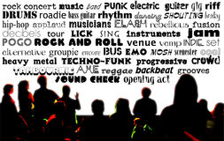 Rock Music Words Stock Image