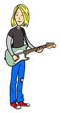 Rock musician cartoon Stock Photography
