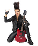 Rock musician isolated Stock Photo