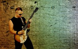 Rock musician Royalty Free Stock Photos