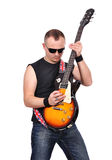 Rock musician Royalty Free Stock Photos