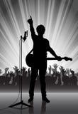 Rock musician on a scene Stock Photos