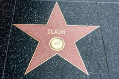 Rock musician and songwriter Slash star on the Hollywood Walk of Fame in Los Angeles, CA stock image