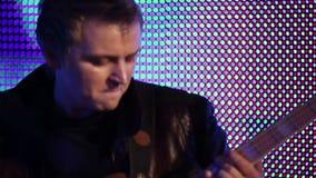 Rock musicians closeup stock video