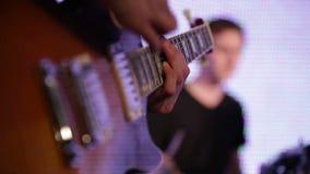 Rock musicians closeup stock video footage