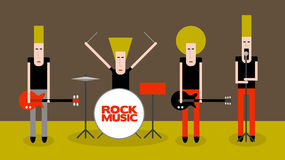 Rock musicians Royalty Free Stock Photography