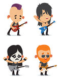 Rock musicians Stock Images