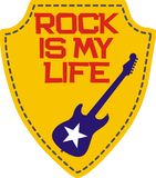 Rock is my life Stock Photography