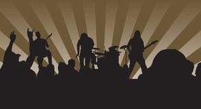 rock n koncertowa Fotografia Stock