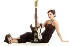 Rock N Roll And Women Royalty Free Stock Photos