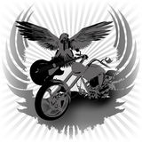 Rock n roll background and chopper Stock Image
