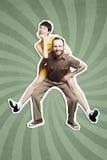 Rock`n`roll dance boogie woogie Royalty Free Stock Images