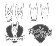 Rock'n'roll emblems Stock Photography