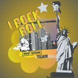 Rock'n roll liberty Stock Images