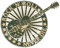Rock n Roll never die stamp Royalty Free Stock Photography