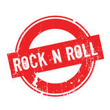 Rock N Roll rubber stamp. Grunge design with dust scratches. Effects can be easily removed for a clean, crisp look. Color is easily changed vector illustration