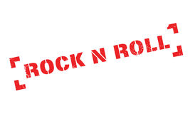 Rock N Roll rubber stamp. Grunge design with dust scratches. Effects can be easily removed for a clean, crisp look. Color is easily changed royalty free illustration