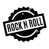 Rock N Roll rubber stamp. Grunge design with dust scratches. Effects can be easily removed for a clean, crisp look. Color is easily changed Royalty Free Stock Image