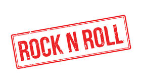 Rock n roll rubber stamp Royalty Free Stock Photography