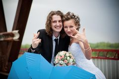 Rock-n-roll wedding Stock Image