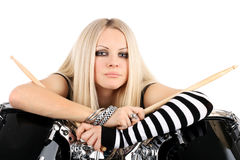 Free Rock-n-roll With The Beautiful Blonde Royalty Free Stock Photo - 8278685