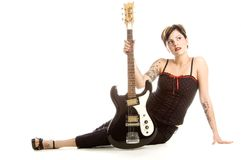 Rock'n roll and women Stock Photography