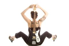 Rock'n roll and women Stock Images