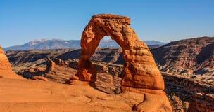 Rock, Natural Arch, National Park, Sky Stock Photography