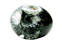 Rock natural qurtz with chlorite crystals Stock Photo