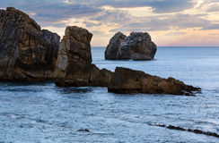 Rock near Arnia Beach (Spain). Stock Photography