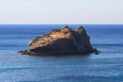 Rock near Latsi and Aphrodite Beach, Cyprus Stock Photography