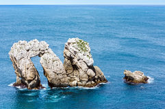 Rock near Portio Beach (Spain). Royalty Free Stock Photos