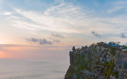 Rock near Tanah-Lot Temple at Sunset, Bali. Indonesia Royalty Free Stock Photo