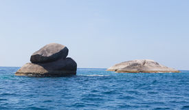 Rock in the ocean on the Andaman Sea Royalty Free Stock Photos
