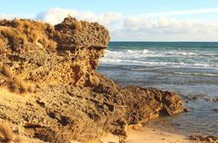 Rock and ocean, Australia Royalty Free Stock Images