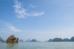 Rock in the ocean (Thailand) Royalty Free Stock Images