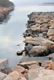 Rock och hav Royaltyfri Bild