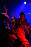 Rock opera, costume play live on the stage Stock Images