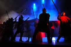 Rock opera, costume play live on the stage Stock Image
